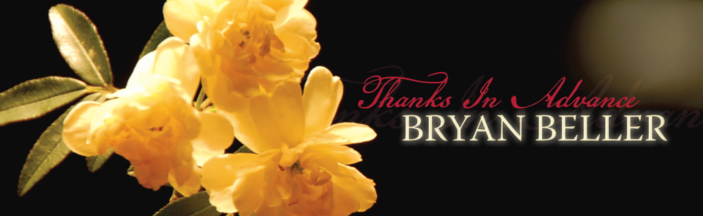 Thanks In Advance - Bryan Beller